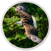 Flying Eagle Round Beach Towel