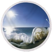 Foam Inertia Round Beach Towel