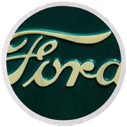 Ford Emblem Round Beach Towel