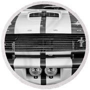 Ford Mustang Grille Emblem Round Beach Towel