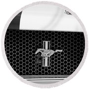 Ford Mustang Gt 350 Grille Emblem Round Beach Towel