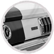1966 Ford Shelby Mustang Gt 350 Taillight Round Beach Towel