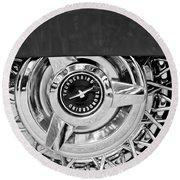 Ford Thunderbird Wheel Emblem Round Beach Towel