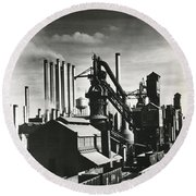 Ford's River Rouge Plant Round Beach Towel