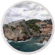 Fort Lovrijenac - Dubrovnik - Croatia Round Beach Towel