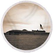Fort Mchenry  Round Beach Towel