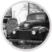 Forties Ford Pickup Round Beach Towel