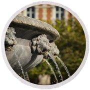 Fountain - Place Des Vosges Round Beach Towel