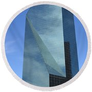 Fountain Place Building Round Beach Towel