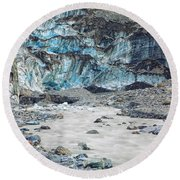 Fox Glacier Round Beach Towel
