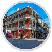 French Quarter Afternoon Round Beach Towel
