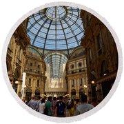 Galleria Vittorio Emanuele. Milano Milan Round Beach Towel