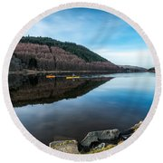 Geirionydd Lake  Round Beach Towel