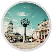 Gendarmenmarkt In Berlin Germany Round Beach Towel