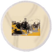 General Pancho Villa At Ojinaga A Military Triumph 1916-2008 Round Beach Towel