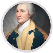 George Washington By Rembrandt Peale Round Beach Towel