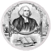 George Whitefield (1714-1770) Round Beach Towel