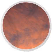 Georgia Skyscape Round Beach Towel