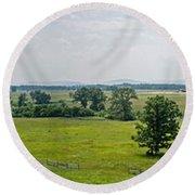 Gettysburg Battlefield Round Beach Towel
