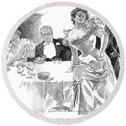 Gibson: Dinner Party Round Beach Towel