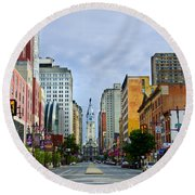 Give My Regards To Broad Street Round Beach Towel by Bill Cannon