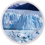 Glacier, Moreno Glacier, Argentine Round Beach Towel