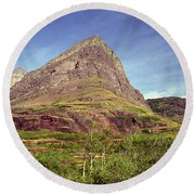 Glacier National Park 1 Round Beach Towel