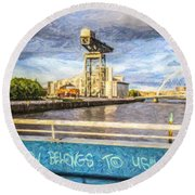 Glasgow Belongs To Us Round Beach Towel