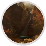 Glen Ellis Falls Round Beach Towel