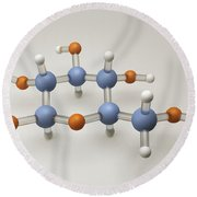 Glucose Molecule Round Beach Towel