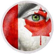 Go Canada Round Beach Towel