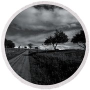 Going To The Chapel Round Beach Towel