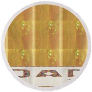 Gold Embossed Foil Art For Dad  Digital Graphic Signature   Art  Navinjoshi  Artist Created Images T Round Beach Towel