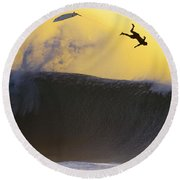 Gold Leap Round Beach Towel