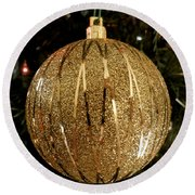 Gold Ornament Round Beach Towel