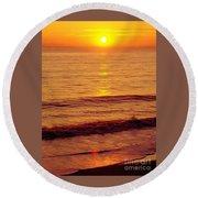 Golden - Sunrise Round Beach Towel