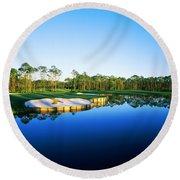 Golf Course At The Lakeside, Regatta Round Beach Towel