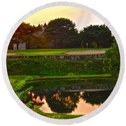 Golf Course Beauty Round Beach Towel