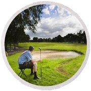 Golf Course Round Beach Towel