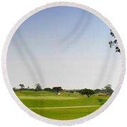 Golf Fairway Round Beach Towel