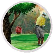 Golf Outing Round Beach Towel
