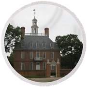 Governers Palace Colonial Williamsburg Round Beach Towel