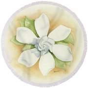 Graceful Symmetry Round Beach Towel