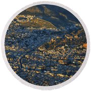 Granada And The Alhambra Round Beach Towel
