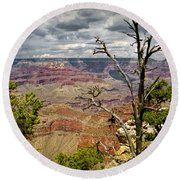 Grand Canyon View From The South Rim Round Beach Towel