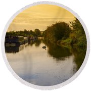 Grand Union Canal In Berkhampsted Round Beach Towel