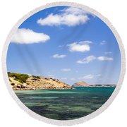 Granite Island South Australia Round Beach Towel