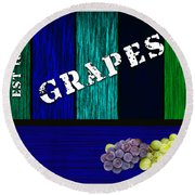 Grape Farm Round Beach Towel