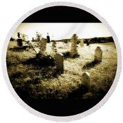 Graveyard 4724 Round Beach Towel