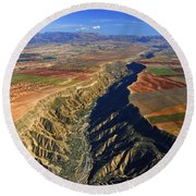 Great Canyon River Gor In Spain Round Beach Towel